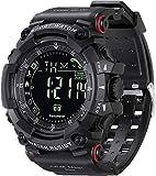 Reloj digital deportivo para hombre reloj inteligente con Bluetooth militar para Android e iOS con podómetro contador de calorías cronómetro alarmas cámara remota