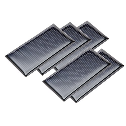 sourcing map 5Pcs 5V 60mA Poly Mini Solar Panel Modul DIY Spielzeug Ladegerät 67,5mm x 35mm