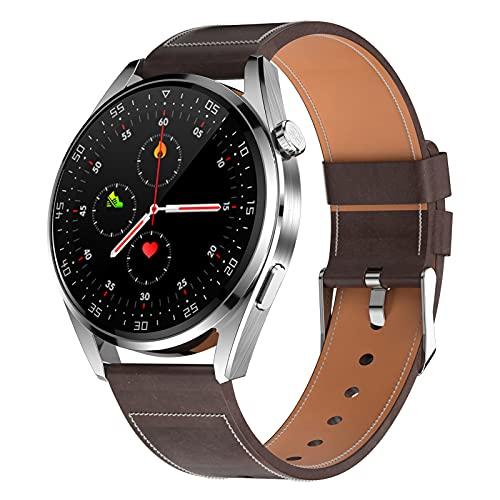 BNMY Relojes Inteligentes Hombre Llamada Bluetooth con Pulsómetro Podómetro Monitor De Sueño Modos De Deportes Cronómetrol Pulsera De Actividad,Smartwatch Inteligentes Hombre para iOS Y Android,B
