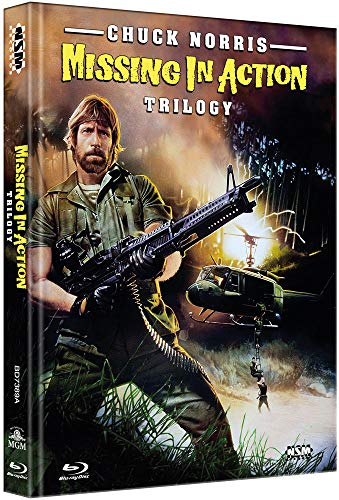 Missing in Action Trilogy [3 Blu-Ray] - uncut - auf 666 limitiertes Mediabook Cover A [Alemania] [Blu-ray]