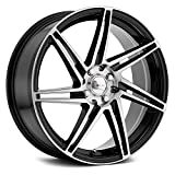 Focal 449U F-14 Gloss Black with Diamond Cut Face & Clear-Coat Wheel with Painted Finish (18 x 8. inches /4 x 100 mm, 42 mm Offset)