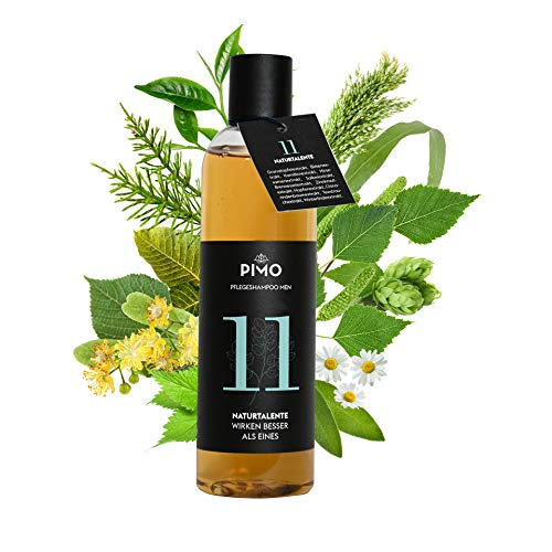 PIMO Pflegeshampoo Men – Shampoo – Glanz – Wachstum - Naturkosmetik - Pflegt und stärkt das Haar – 11 Extrakte – ohne Silikone – Hergestellt in Österreich