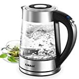 CHULUX Electric Glass Kettle 1.7L Variable Temperature Control Hot...
