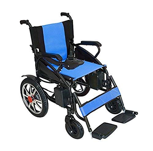2020 Electric Wheelchair Folding Motorized Power Wheelchairs,Transport Friendly Lightweight Folding for Adults by Medical Care (Blue)