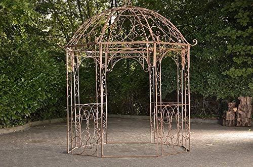 CLP Rosenpavillon Leila I Rankpavillion Aus Pulverbeschichtetem Eisen I Gartendekoration Im Jugendsstil, Farbe:antik braun
