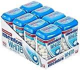 Mentos White Kaugummi, 8 Dosen à 100 Stück im Multipack, Pfefferminz Geschmack, zuckerfreie Zahnpflege -