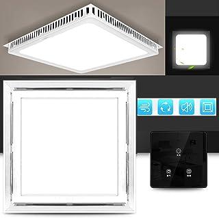 Multifuncional Square Ventilador Extractor silenciosa, 220v extractor de aire baño/Cocina, 40w Ventilador Extractor Instalación en el techo, Ventilación iluminación,White-A-touch-switch