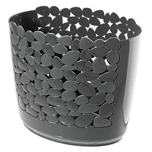 mDesign Abfalleimer ohne Deckel – perfekt als Papierkorb im Büro oder im Badezimmer für Kosmetikartikel – Abfallkorb in Schlichter Optik - dunkelgrau