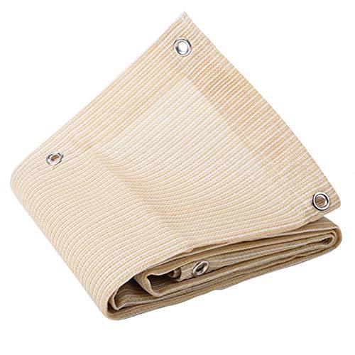 Net Mesh Shade Shade Sail Panel De Sombra con Ojales para Plantas Pérgola Canopy Patio Trasero, 90% Tela De Sombra,Bloqueador Solar De Malla De Color Crema 3x6m