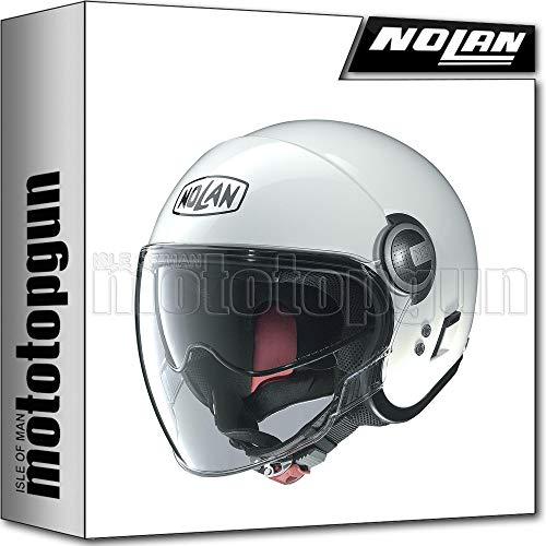 NOLAN MOTORRAD JETHELM N21 VISOR CLASSIC METAL WEISS 005 SZ. S