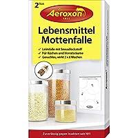 Aeroxon Trampa de polillas de Alimentos, Paquete de 2, acción rápida, Ideal para cocinas o Espacios de Almacenamiento