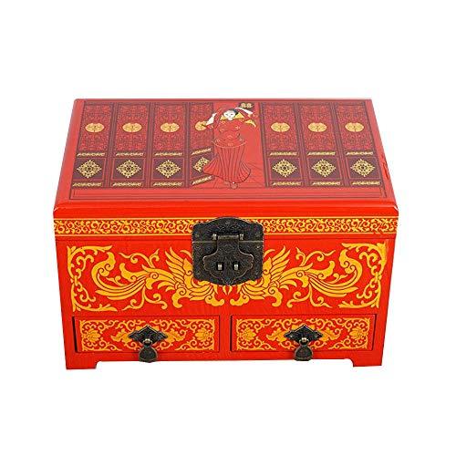 ALIANG Caja de Almacenamiento de Madera, China, Caja de tocador, joyero de...