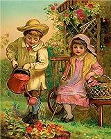 大人の子供のための数字によるDIY5Dダイヤモンドペイント、家の装飾のためのフルドリルペイントクリスタル刺繡キットアートクラフト庭の女の子の男の子の花40x50 cm