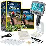 NATIONAL GEOGRAPHIC Digital Microscope for Kids – 40-Piece Handheld Microscope, Lightweight, Portable, Capture 1080p Photos & Video on Micro SD Card, Tilting 4.3-Inch LCD Screen, 800x Magnification