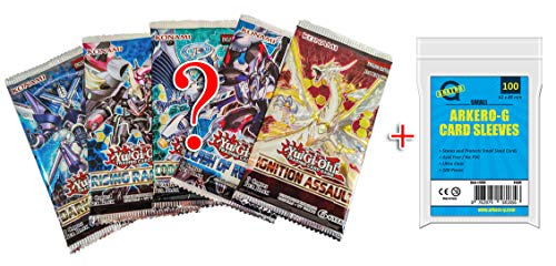 YuGiOh! Mystery Booster Set - 5 Booster Packs & Arkero-G 100 Small Soft...