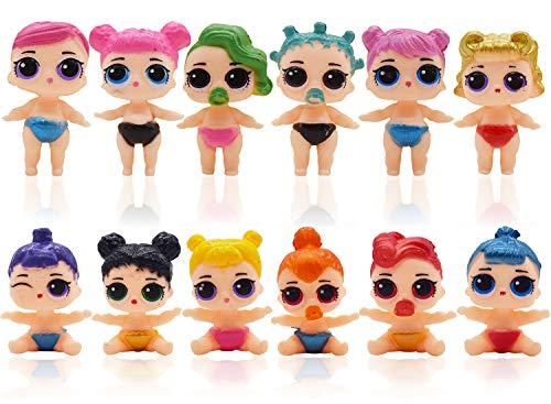 Mini Figuren Set Geburtstags Party YUESEN 12pcs LOL Puppe Cake Tortenfiguren, MiniFiguren Tortendeko Geburtstags Party liefert Cupcake Figuren für Kindergeburtstag deko Mädchen /Junge