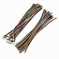電子モジュール RCドローンバッテリー10CM ZH1.5MM 2P / 3P / 4P / 5P / 6P端子ケーブルワイヤシングル/ダブルプラグ用 (Color : 4P, Size : Double Plug)