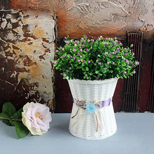 Home Decor Vasi di fiori di plastica di medie dimensioni Vasi di fiori Balcone di moda pianta da...