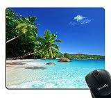 island mouse pad - Smooffly Tropical Paradise Sunshine Beach Coast Sea Palm Trees Mousepad,Custom Rectangular Mouse Pad