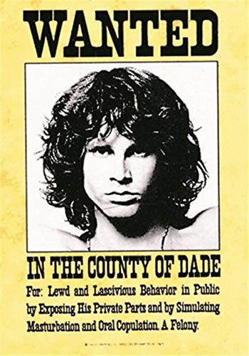 Jim Morrison Doors Wanted Large Fabric Poster / Flag 1100mm x 750mm (hr)
