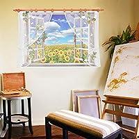 PVCタイルデカールひまわり壁紙リビングルームの家の装飾