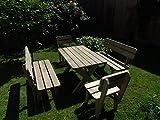 Platan Room Gartengarnitur Holz Kiefer Sitzgruppe 180 cm breit Gartenbank Gartentisch massiv Imprägniert - 3