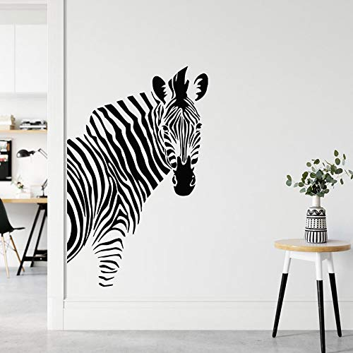 Etiqueta engomada de la pared de la cebra del animal africano decoración del hogar sala de estar dormitorio calcomanías de la pared del cuarto de niños papel tapiz mural extraíble A8 42x65cm