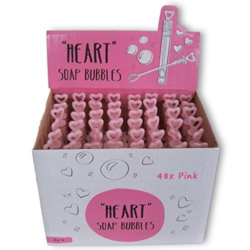 48x Seifenblasen pink mit Herz Wedding Bubbles Hochzeit Gastgeschenk Liebe Valentinstag von Haus der Herzen®