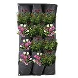 LWAN3 Pflanzbeutel, zum Aufhängen, für den Garten, zur Wandmontage, vertikal, wasserdicht, Filz,...