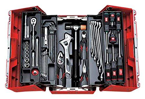KTC(ケーテーシー) 9.5mm (3/8インチ) 工具セット (両開きプラハードケース) 53点組 SK3536P