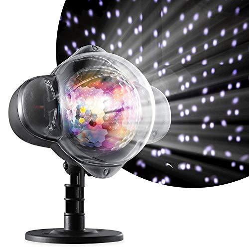 LIGHTOP Projektionslampe Projektor Lampe Wasserdicht Schnee Außen LED für Outdoor Garten Weihnachten Geburtstag Heiratsantrag Lichtprojektor