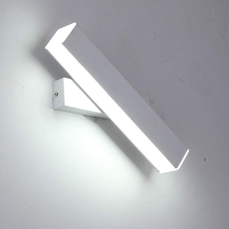 Perfekt PC dreifarbig verstellbares LED-Schlafzimmer-Nachttischlicht einfache drehbare Wohnzimmerstudie Lesewandlampe schn (Farbe   Weiß)