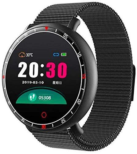 WXDP elektronische Uhr,Smart Watch 1.3In Rate-Druck-Monitor Musik Erinnerung Wetter Multi-Sport wasserdichte Smartwatch kann Android iOS-Version