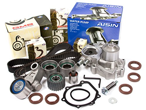 Evergreen TBK328WPA Compatible With 02-05 Subaru Impreza WRX Turbo 2.0 DOHC EJ20 Timing Belt Kit AISIN Water Pump