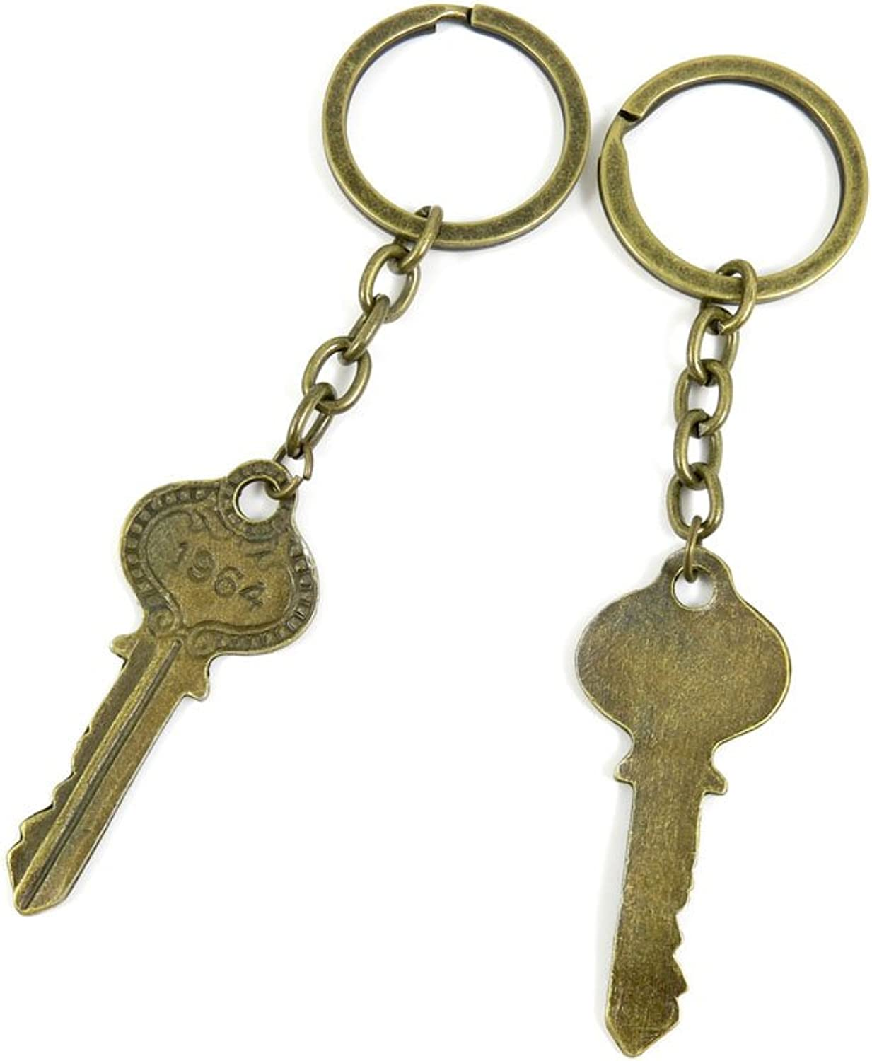 100 PCS Keyrings Keychains Key Ring Chains Tags Jewelry Findings Clasps Buckles Supplies R3BO8 1964 Key