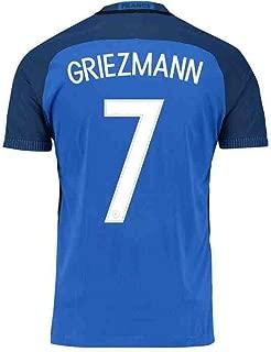 #7 Griezmann National Team Home Adult Men's Soccer Jerseys 2016
