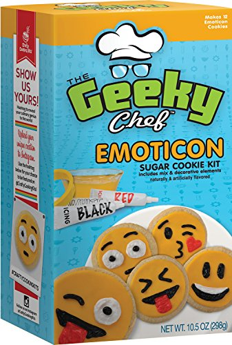 Crafty Cooking Kits Geeky Chef Emoticon Sugar Cookie Kit, 10.5 Ounce