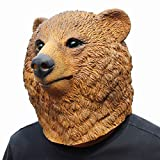 CreepyParty Bär Masken Halloween Kostüm Party Tierkopf Latex Maske Braunbär