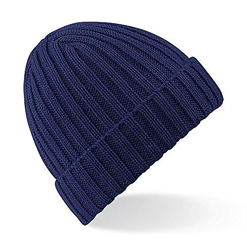 Beechfield - Bonnet épais - Adulte unisexe (Taille unique) (Bleu marine)