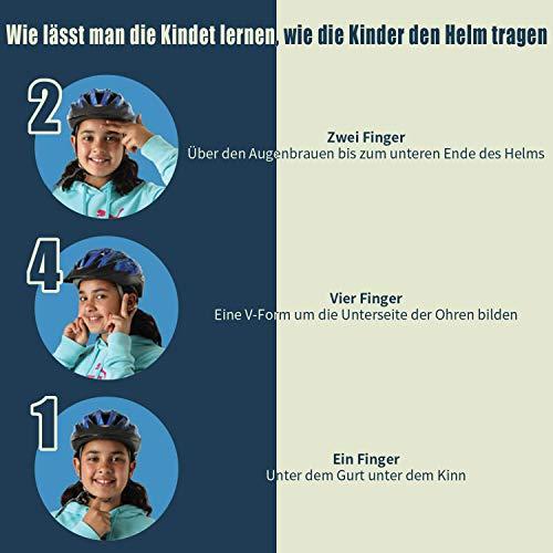 ICOCOPRO Fahrradhelme,Sicherheitsschutz für Kinder, Abnehmbar, Fullface Helm Kinder, für 5-15 Jahre,Passt für Kopfgröße 52-56, Fahrradfahren und Motorradfahren, Knallblau/Rot/Gelb/Blau/Rosa (5Farbe) - 6