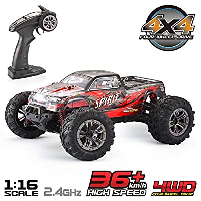 VATOS Remote Control Car High Speed RC Car 1:16 Scale 36km/h 4WD 2.4GHz Electric Racing Car RC Buggy Vehicle Truck Buggy Crawler Toy Car for Adults and Kids