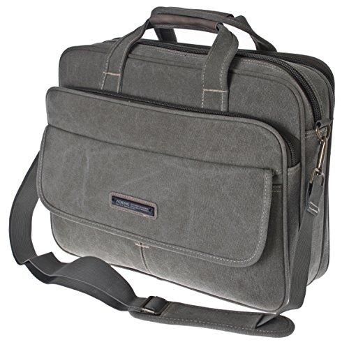 Borsa Messenger Bag Per Lavoro XXL - Portadocumenti Per PC Laptop Racoglitore A4 - Alta Qualità - Tracolla Regolabile (Green)