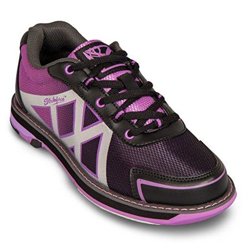 KR Strikeforce Womens Kross Bowling Shoes- Black/Purple (6 1/2 M US, Black/Purple)