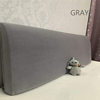 WOMACO Bed Headboard Slipcover Protector Stretch Solid Color Dustproof Cover for Bedroom Decor (Length (82.5-90.5