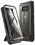 YOUMAKER Kickstand Case for Galaxy S8, Full Body with Built-in Screen Protector Heavy Duty Protection Shockproof Rugged Cover for Samsung Galaxy S8 5.6 inch - Gun Metal/Black