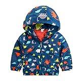 Little Boys Dinosaur Hoodies Active Jackets Raincoat Summer Jacket for Kids 4 5 T