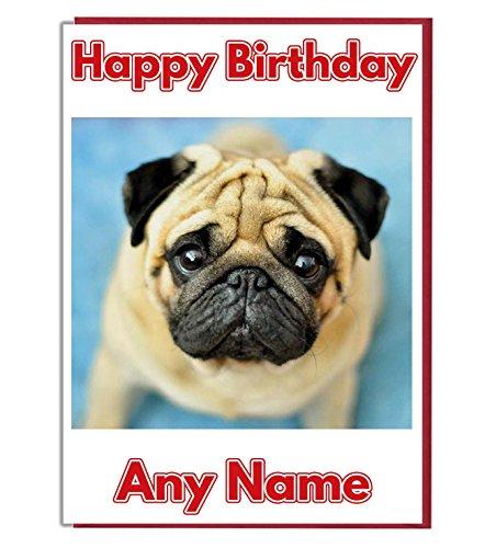 AK Giftshop Gepersonaliseerde Verjaardagskaart - Leuke Knuffel Hond - ADD A NAME AND AGE
