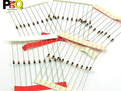 DEL R 50 x diodes electroluminescentes SODIAL Diametre de tete ronde 5mm Rouge