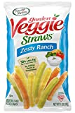 Twenty-four 1 ounce bags of Zesty Ranch Garden Veggie Straws Made with garden-grown potatoes and vegetables 30% less fat than the leading brand of potato chips 0 milligrams cholesterol and 0 gram trans-fat per serving Certified Kosher and gluten-free