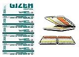 SweedZ Gizeh Mentho Tip Lot de 5 paquets de 200 filtres à cigarettes + Étui à cigarettes